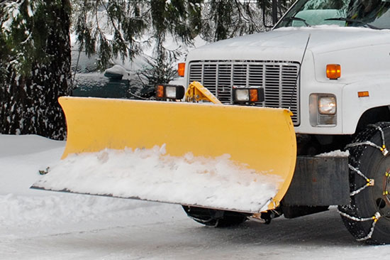 Commercial snow plowing in New Hampshire