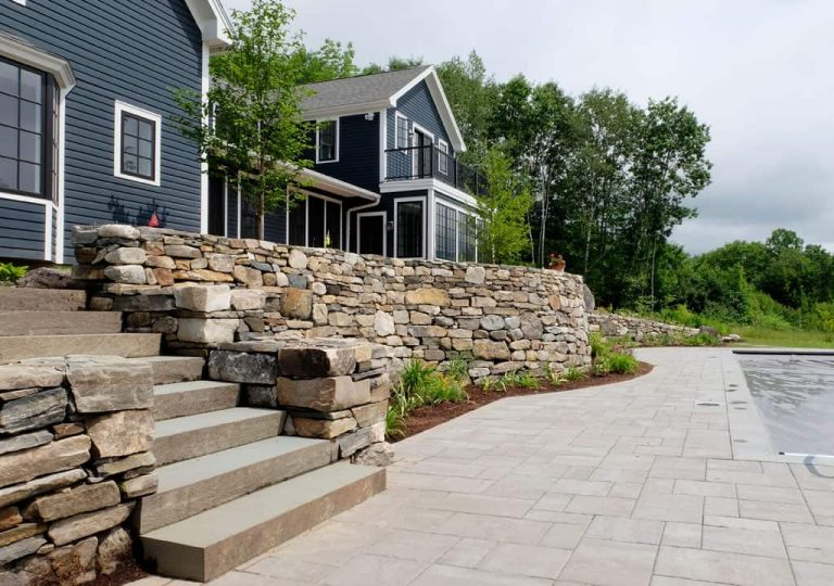 Retaining wall and patio design